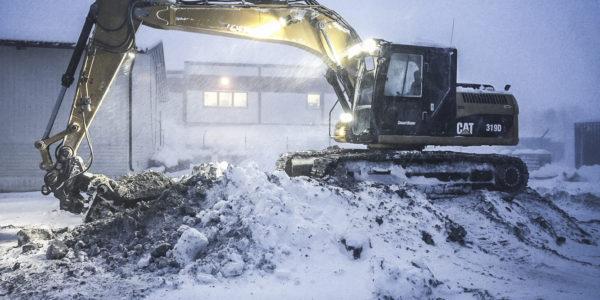 Vintergraving